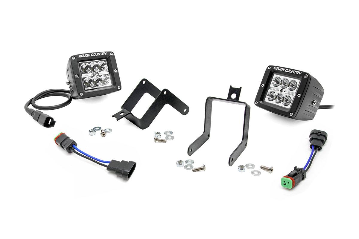 2-inch chrome series cree led fog light kit  ford super duty